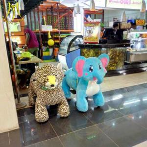 China Hansel amusement park battery animal kids plush electric rides on animal on sale