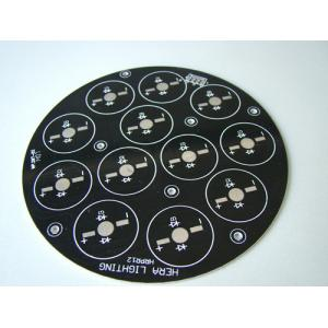 China 4 Layer Printed Circuit Board / Rigid PCB Board With Black Solder Mask on sale