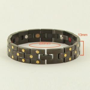 China Black Gold Invisible Chani Healthy Wristband New Magnetic Germanium Bracelet for men,germanium bracelets on sale