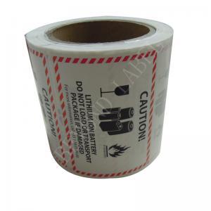 China CMYK Rectangular Hazard Warning Labels Self Adhesive Paper For Shipping on sale