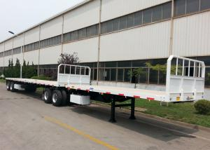 China Double Interlink FlatBed Container Carrier Trailer , 60 Foot Step Frame Trailer on sale