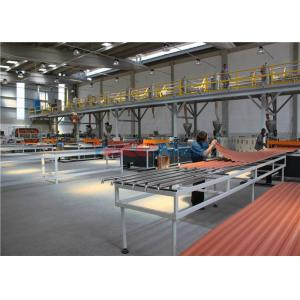 China Plastic Trapezoidal Wave Plate Rolling Machine For Chemical Resistance PVC Panel on sale