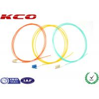 China Simplex LC LC OM3 Patch Cord 50 / 125 10G Fiber Optic Pigtails PVC Cover on sale