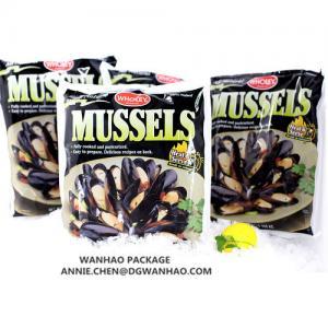 Quality Sacs de emballage sous vide stratifiés d'impression de sacs de vide du NYLON/LLDPE de moule faite sur commande d'aliments surgelés for sale