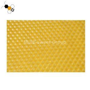 China Yellow Color OEM Beeswax Foundation Sheets With Hexagonal Cells on sale