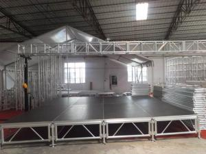 China Tourgo top quality non-slip High quality Aluminum portable wedding decent stage design on sale