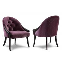 Luxury Purple Hotel Room Chairs Wooden Traditional Classical Style High Standard