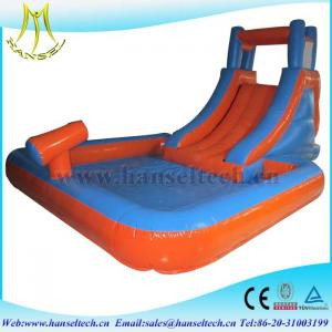 China Hansel high quality PVC material commercila inflatable bouncer slide inflatable play area for children on sale