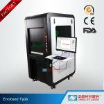 100W Fully Enclosed Fiber Laser Marking Machine for Printing Logos on Stainless Steel Aluminum