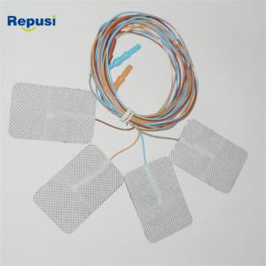 China EMG Ground Adhesive Electrode 60x40mm With 1.5m Lead Wire on sale