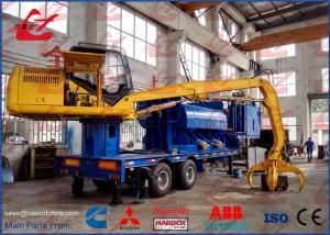 China Mobile Waste Scrap Metal Steel Light Metal Baler Logger Remote Control Diesel Engine Export to USA on sale