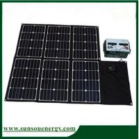180w folding solar panel / foldable solar kits with dual voltage controller for car & other big battery, camping etc