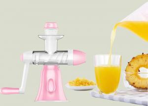 China Low Speed Slow Juice Maker Manual Orange Ginger / Apple / Mulberry Juicer on sale