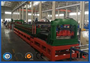 China Plc System Steel Silo Corrugated Side Panel Roll Forming Machine High Speed 12-15m/min on sale