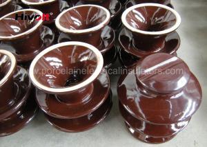 China Professional High Voltage Ceramic Insulators Brown / Grey Color Porcelain C-120 on sale