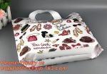 custom design biodegradable soft loop handle plastic bag,Fashion colored soft loop bag die cut bag for clothes, shopping