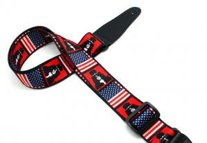 China Cute Adjustable Custom Hand Tooled Leather Guitar Straps For Kids on sale