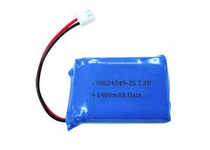 China Electronics 7.4V 1480mAh Lithium Battery Pack , 624249 2S Custom Lipo Battery Packs on sale