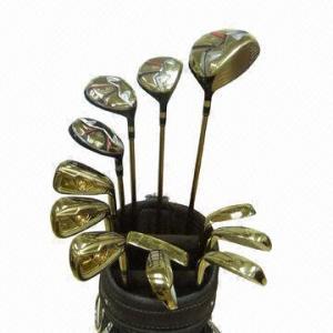 China Sistema profesional lujoso del OEM Golf Club del chapado en oro on sale