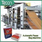 Tubular Valve / Flat Valve Automatic Chemical Paper Bag Make Machine High Speed