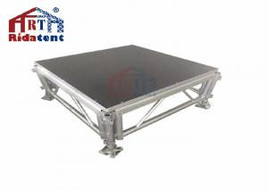 China Plexi Glass Mobile Stage Platform For Community Centres Customized Size on sale