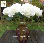 China UVG FHY23 Decoration flower artificial white hydrangea for indoor party decoration wholesale