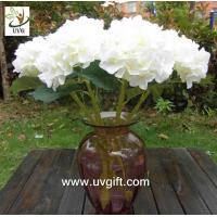 UVG FHY23 Decoration flower artificial white hydrangea for indoor party decoration