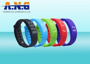 China USB Port HF Rfid Tags , Sport Rfid Silicone Wristbands with FM1108 chip on sale