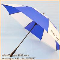China Wholesale High Quality Fashion Custom Printed Gift Automatic Sun Fiberglass Windproof Golf Umbrella on sale