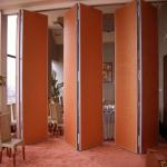 Sliding Folding Partition Walls Melamine Movable Wooden Partition Wall For Banquet