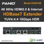 4K 60Hz HDMI2.0 Extender and Ethernet Extender