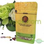 Drip Coffee Ziplock Flat Bottom Gusset Bags / Aluminium Block Bottom Bags With Valve