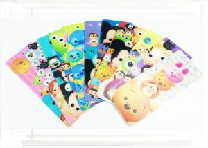 China Pantone Color Disney PP 3D Changing Pictures Lenticular Bookmarks For Kids 0.38mm / 0.45mm / 0.58mm on sale