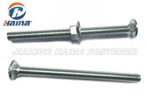 China 3/8\ - 16x5\  Square Neck Coach Zinc Plated Carriage Bolts for Timber with Flange Nut on sale