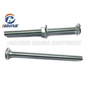 China 3/8 - 16x5  Square Neck Coach Zinc Plated Carriage Bolts for Timber with Flange Nut on sale