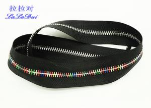 China Auto Lock Slider Metal Zipper By The Yard ,  Close End Long Metal Zipper For Handbags on sale