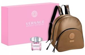 China Buy Newest Versace New Bright Crystal Eau De Toilette Perfume + Logo Backpack,Cheap Versace Backpacks on sale