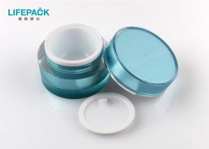China Luxury Cosmetic Jar Packaging , 1.76 Oz Matt Clear Acrylic Containers With Lid on sale