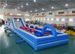 Cursos de obstáculo infláveis para jogos dos esportes do divertimento das crianças