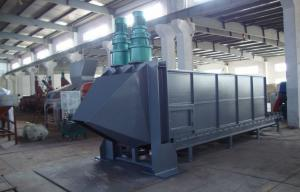 China Horizontal Plastic PET Flakes Washing Line Bale Breaker Machine on sale