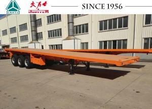 China 40 FT 3 Axle Flat Deck Utility Trailer Steel Frame With Airbag Suspension on sale