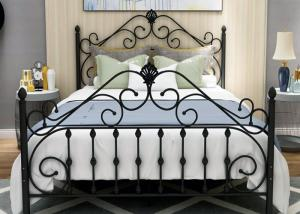 China Home Modern 0.6mm Small Double Metal Bed Frame on sale