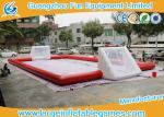Red Inflatable Football Pitch , Inflatable Soccer Arena Flor Adult Or Children