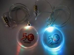China OEM / ODM Flashing Led Novelties PS LED flashing Necklace with 3 x AG3 Batteries For Party on sale