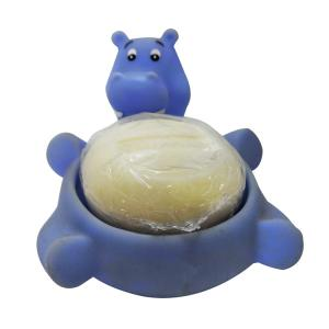 China Cute Animal Floating Bath Toys / Rubber Bathtub Frog Duck Hippo Soap Dish on sale