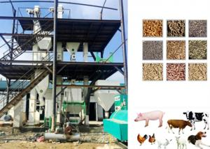 China Sheep Cattle Animal Feed Pellet Production Line Grains / Maize Raw Material on sale
