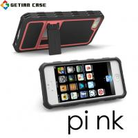 New Design PC + TPU Cell Phone Covers with Stand, Hard Case Cover for Iphone 5