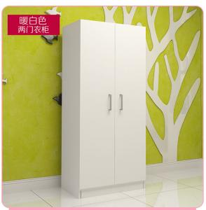 China Small Size Bedroom Wardrobe Closet Sliding Opening Simple Modern Style For Storage Clothes on sale