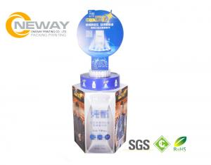 China Cardboard Display Stands , Snacks Food Corrugated Cardboard Display Stands Free Design on sale