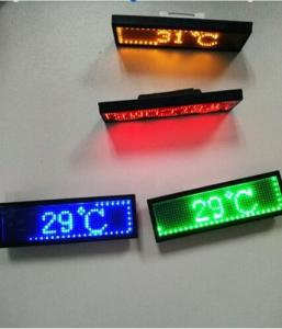 China RGB Programmable Scrolling LED Sign , Rechargeable USB Flashing Electronic LED Name Badge on sale